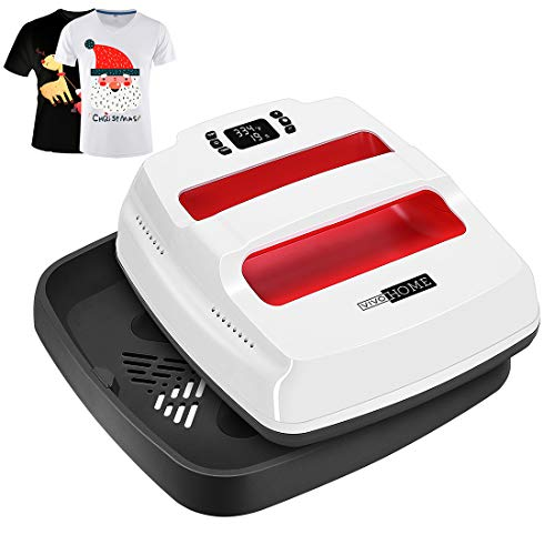 FeiLian Easy Heat Press Machine Portable 12/×10 Automatic Press Sublimation Machine and HTV Vinyl Machine with Heat Press Mat for T-Shirts,Contains A Modal T-Shirt and Heat Painting Film/…