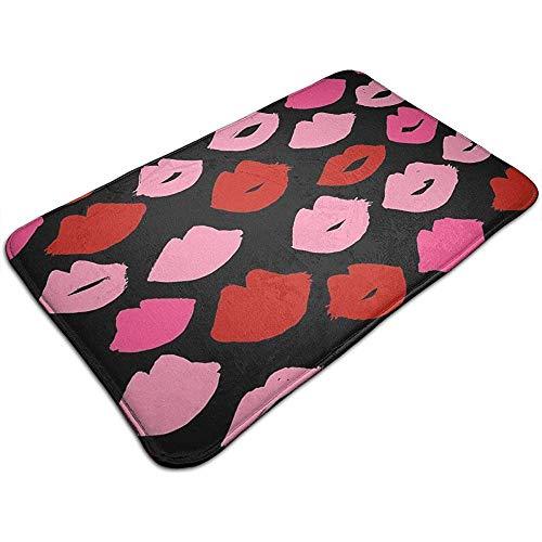 Reiziger Rode en Roze Lippenstift Schoonheid Mode Deur Mat Ingang Vloermatten met Antislip Backing Indoor Outdoor