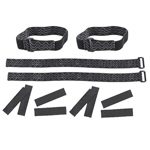 Fenical 2 sätze kniestiefel gurte elastische verstellbare befestigungsgurte hose steigbügel mit aufkleber für frauen mädchen