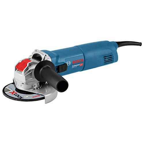 Bosch Professional Winkelschleifer GWX 10-125 (1000 Watt, für X-LOCK Zubehör, ScheibenØ: 125 mm, im Karton)
