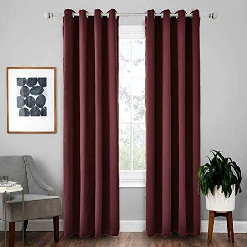 Zimmervorhänge Gbvfr 4 PCS High-Precision Curtain Shade Cloth Isolationen Festkörpervorhang, Größe: 52 × 84 (132 × 213) (Color : Wine Red)
