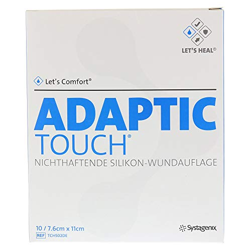 Adaptic Touch 7,6x11 cm Nichthaftende Silikon-Wundauflage, 1