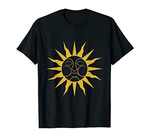 Folk Horror Wickerman Sun Sigil T-Shirt