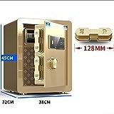 YU-CZ0 Completamente de Acero antirrobo Cajas Fuertes doméstica pequeña Huella Digital Oficina Caja 45cm / 17Kg, 60 cm / 36Kg empotrar en la Pared Caja de Seguridad Invisible,Oro,45cm/17kg