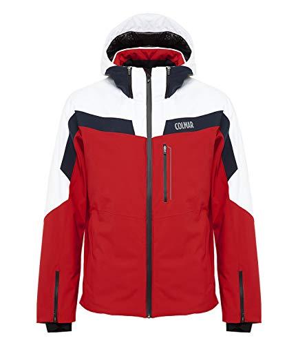 COLMAR Herren Skijacke Sapporo Jacket 1306, Farbe:Rot, Größe:52, Artikel:-15 red/White/Navy