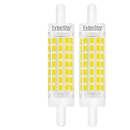 Lampadina 5W R7S 78mm a LED Slim Doppio Effetto Lineare,Non Dimmerabile Bianco Freddo 6500K Equivalente a 40W 500LM,Confezione da 2