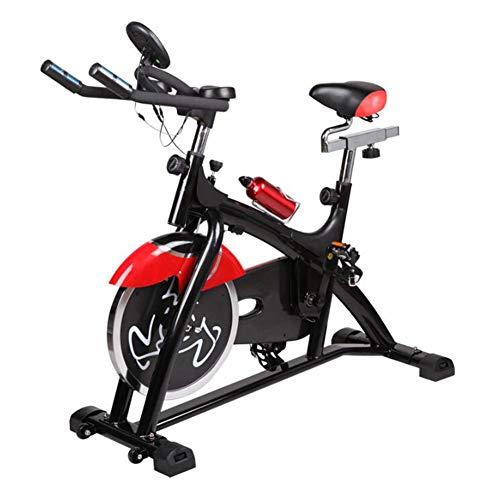HLEZ Cyclette da Casa, Cyclette Bici da Camera Cardio Bike Volano 15 kg con Monitor LCD Carico Max 200 kg Manubrio Regolabile E Altezza del Sedile Cardio Trainer,Nero