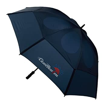 GustBuster Pro Series Gold Extra Large Golf Umbrella Windproof 62-Inch with  Navy