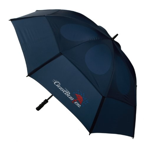 GustBuster Pro Series Gold Extra Large Golf Umbrella Windproof 62-Inch with (Navy)