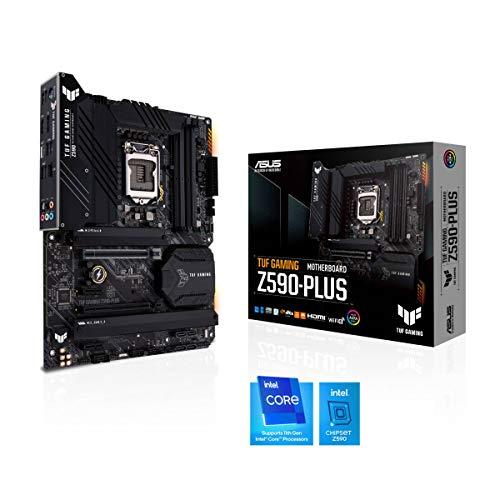 ASUS TUF Gaming Z590-PLUS Mainboard Sockel Intel LGA 1200 (Intel Z590, ATX, PCIe 4.0, 3x M.2, USB 3.2 Gen 2x2, Thunderbolt 4, Aura Sync)