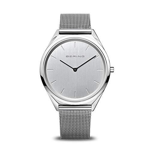 BERING Unisex Analog Quartz Uhr mit Edelstahl Armband 17039-000