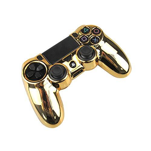 Hosoncovy Gehäuse Hartschalenhülle Plattierung Griff Controller Schutzhülle Cool Electroplated Case für Playstation 4 PS4 Controller, Gold