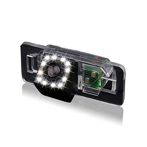 Greatek Auto Rückfahrkamera verbesserte Einparkhilfe mit 8IR Nachtsicht 170° Weitwinkel Wasserdicht Hoche Defination (schwarz) für E38 E39 E46 E60 E61 E65 E66 E90 E91 E92 735 740 745 750 760