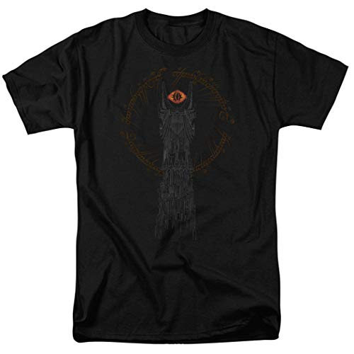 Lord of The Rings Tower of Sauron Eye T Shirt & Stickers (Large) Black
