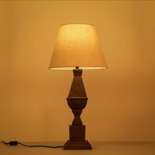 Guo American Village Rétro Tissu Éclairage Salle De Séjour Chambre À Coucher Étude Lampe Do The Old Resin Lampe