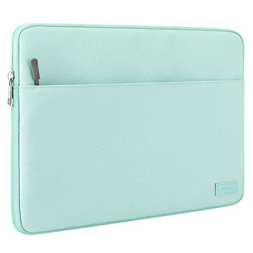 """MoKo 9-11"""" Custodia Protettiva, Borsa Impermeabile in Poliestere con Chiusura Lampo e Due Tasche per iPad 9a 8a 7a Generazione 10.2, iPad PRO 11, iPad Air 4 10.9, Galaxy Tab 10.1, Verde Menta"""