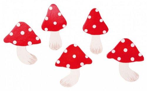 amscan - 500226 - 10 Confettis en Bois Champignons