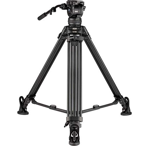 Magnus REX VT-6000 Dual 2-Stage Professional Video Tripod with Fluid Drag Head Supports up to 17 Pounds/Stepped