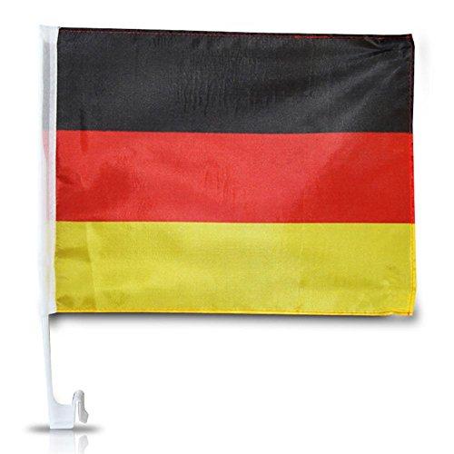 6 x Auto Fahne Deutschland Autofahne Autoflagge Halterung