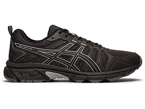 ASICS Men's Gel-Venture 7 Running Shoes, 9M, Black/Sheet Rock