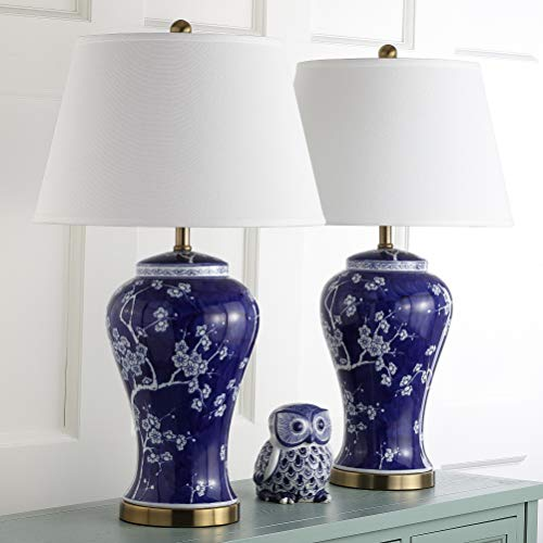"Safavieh Lighting Collection Spring Blossom Multi Floral 29-inch Table Lamp (Set of 2), 29"", Multicolored"
