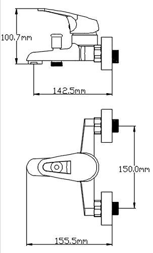 DP Grifería SM-0004 Grifo de baño, Plateado: Amazon.es: Bricolaje y herramientas