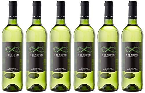 Eternium Vino Blanco 11º de 11º - Paquete de 6 botellas de 75 - Total 450 cl