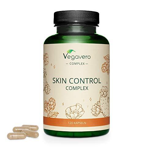 Piel & Uñas Complex Vegavero® | Zinc + Selenio + Nopal + Cebada | Dermatitis Seborreica + Acné | Con Vitamina B12 + B6 + B3 & Vitamina D3 | Anti Acné Natural | Sin Aditivos | Vegano | 180 Cápsulas