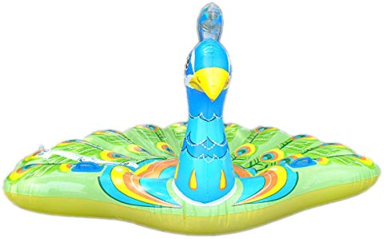 ALOOVOO Riesiges aufblasbares Sich hin und herbewegendes BettPfauPoolFlossSich hin und herbewegendes ReihenFeiertagsPartySpielzeug