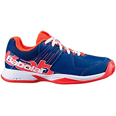 BABOLAT PULSA Junior, Zapatillas de Tenis Unisex Adulto, Estate Blue/Fluo Strike, 40 EU