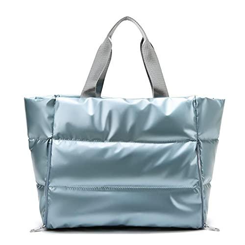 Bolsa de Viaje de Moda Empresar a Prueba de Agua Bolso de Yoga Femenino Gimnasio Fitness Bolsos y Bolsos de Bolsos para Las Mujeres 2021 (Color : Blue, Size : 55 * 42 * 23cm)