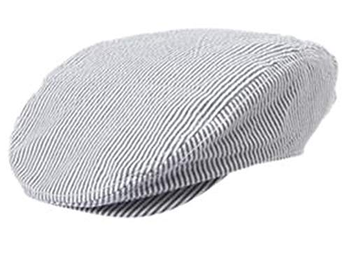 Gymbore NWT Striped Dressed Up Newsboy Cap/hat Medium Sized Toddler Boys Gray/White