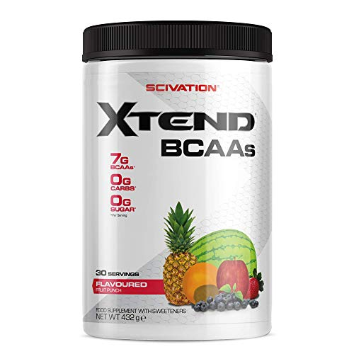 XTEND Original BCAA Powder Fruit Punch | Branched Chain Amino Acids Supplement | 7g BCAAs + Electrolytes for Recovery & Hydration | 30 Servings