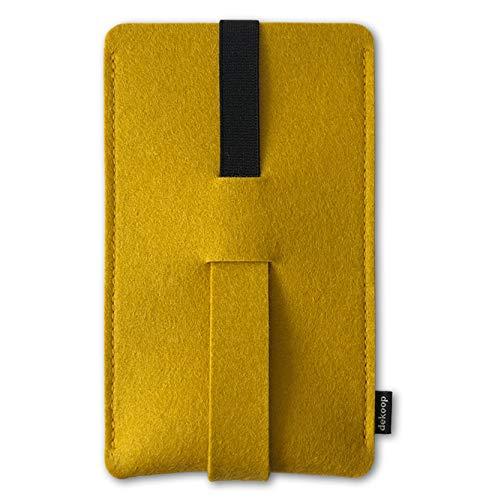 Babuschka - Custodia per iPhone 6-8 Plus e XS Max, con spazio sufficiente per una maggiore protezione con un bumper o una cover in feltro di lana, curry (Giallo) - BAB-XXL-13
