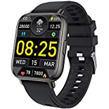 Smart Watch, mebossco Fitness Tracker for Women Men, 1.69 Inch Smartwatch with Sleep Heart Rate Monitor, IP68 Waterproof Sports Watch with Step Counter, Fitness Watch for Android iOS Phones, Black