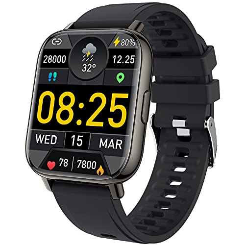 Smart Watch, mebossco Fitness Tracker for Women Men, 1.69 Inch Smartwatch with Sleep Heart Rate Monitor, IP68 Waterproof Sports Watch with Step...