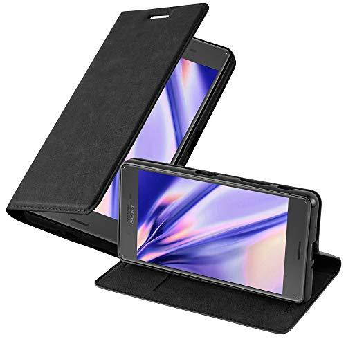Cadorabo Hülle für Sony Xperia X Performance in Nacht SCHWARZ - Handyhülle mit Magnetverschluss, Standfunktion & Kartenfach - Hülle Cover Schutzhülle Etui Tasche Book Klapp Style