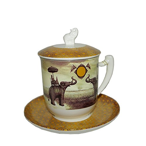 Tea Logic Kräutertee Tasse Sepia Elefant 380ml