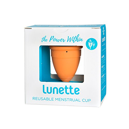 Lunette Menstrual Cup, Orange, Model 2
