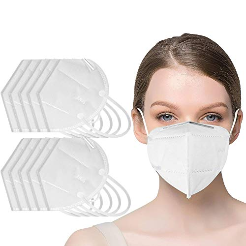 20 pcs Face Mask - 5 Layer Filters - Hypoallergenic Face Protection Dust Proof Mask - Superior Face Sealing, Comfortable, Breathable With Elastic Ear Loop