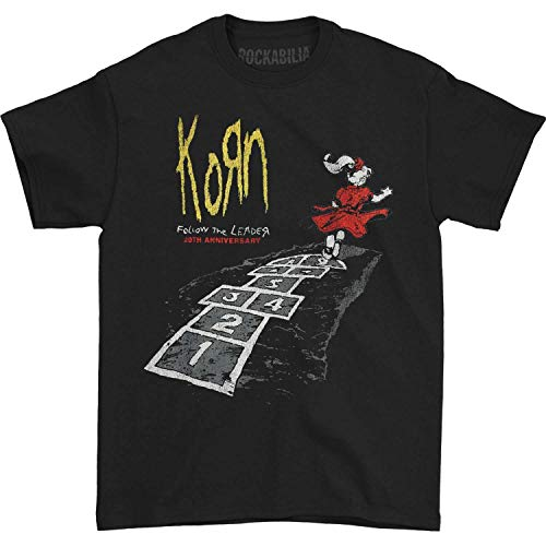 Korn Men's Follow The Leader 20th Anniversary T-Shirt Black