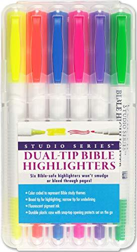 Bible Dual-Tip Highlighters (6-piece Set)