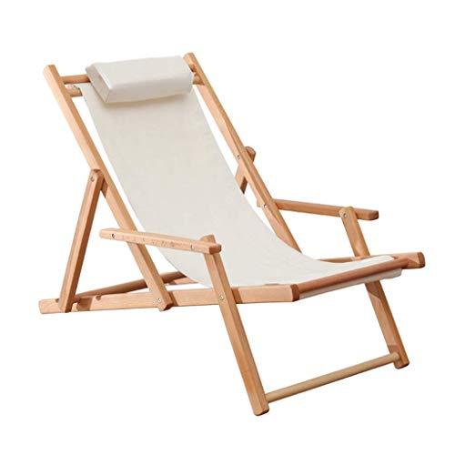 Lounger Poltrone reclinabili Lettino Sdraio da Giardino Decoro con braccioli|Sedie a Sdraio Lettini Pieghevoli|Lettino reclinabile,Bianco,Max 160 kg
