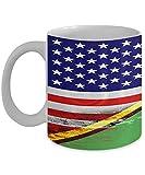 N\A USA Vanuatu Flagge polynesische 11oz weiße Kaffeetasse Teetasse