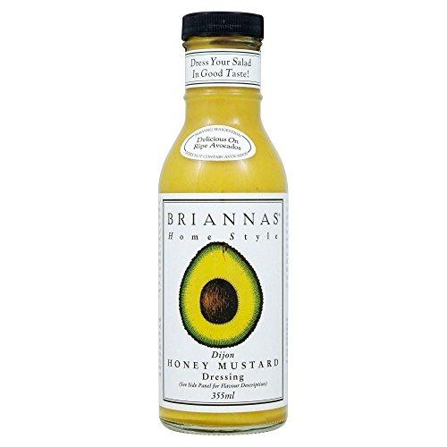 Briannas Home Style Dijon Honey Mustard Dressing (355ml) - Pack of 2