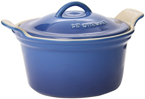 small Le Creuset Heritage Coated Ceramic Round Casserole, 18 oz. (6.25 inches) Marseille