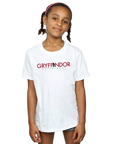 HARRY POTTER niñas Gryffindor Text Camiseta 12-13 Years Blanco