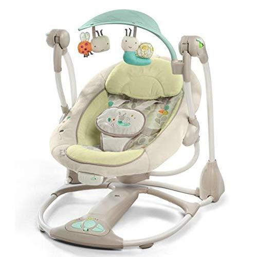 LYN&xxx Baby-Schaukel Und Stuhl, elektrischer Schaukelstuhl Einarm Newborn-to-Kleinkind-Rocker, New-Born Baby Bouncer Und Sein kann, wie EIN Baby Stuhl Gebraucht,Beige