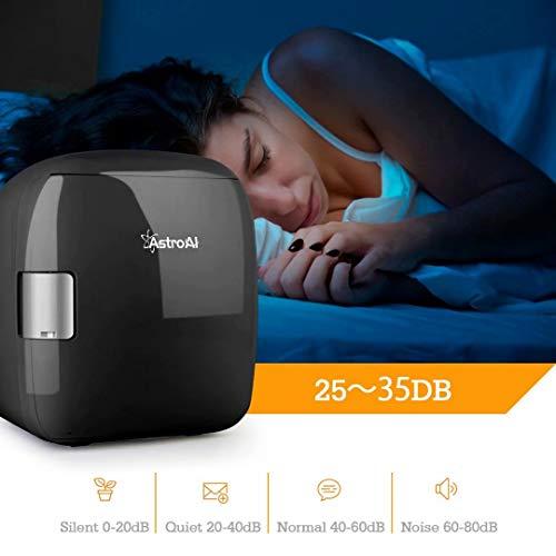 413Ybsf53ZL - AstroAI Mini Refrigerador Portátil para el Skincare 9L, Mini Neveras 220V/12V para Enfriar y Calentar (negro)