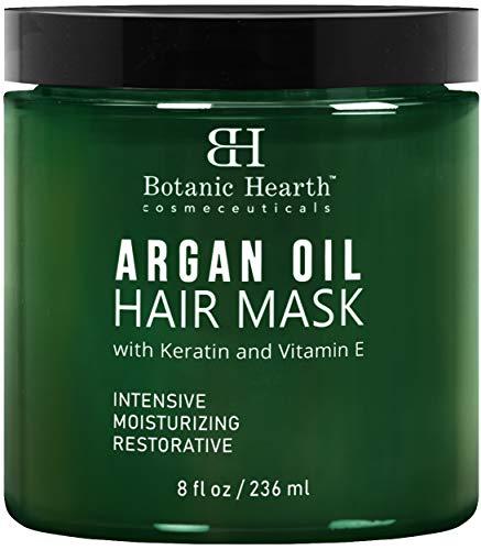 Botanic Hearth Argan Oil Hair Mask - Deep Conditioning Keratin Hair Treatment with Vitamin E - Moisturizing and Restorative, 8 fl oz, Packaging May Vary